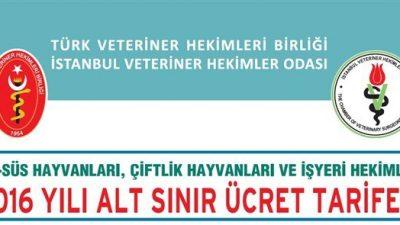 İstanbul VHO 2016 Alt Sınır Ücret Tarifesi